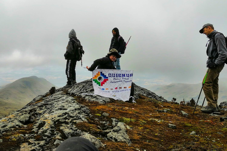 Climb Tours Cotacachi Volcano Ecuador otvalo crater high tours travelers trekking