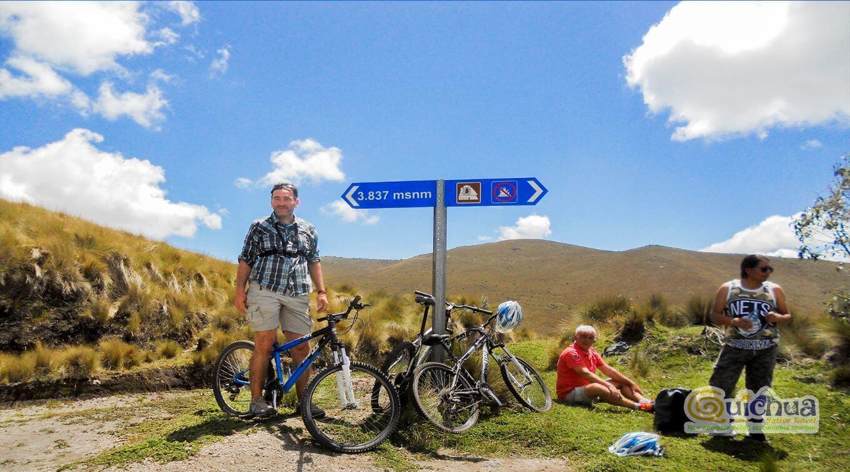 Andean Adventure biking Mojanda lake and Cochasqui Ecuador