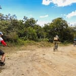 Andean Adventure biking Mojanda lake and Cochasqui Ecuador